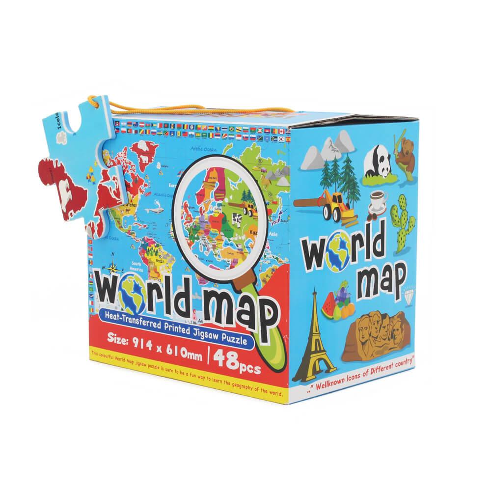 World Map Jigsaw Puzzle | Kiyobaby